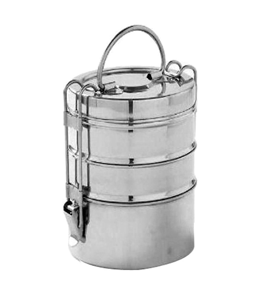 072a94ed0 King International Matte Stainless Steel Tiffin Box (3 Tier)  Buy Online at Best  Price in India - Snapdeal