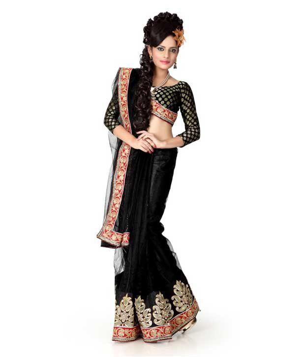 Designer Sarees Black Net Saree
