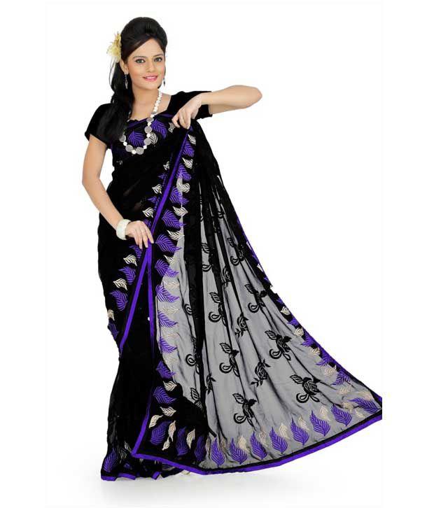 Designer Sarees Purple Georgette Saree