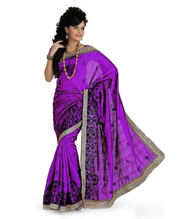 Designer Sarees Purple Art Silk Saree