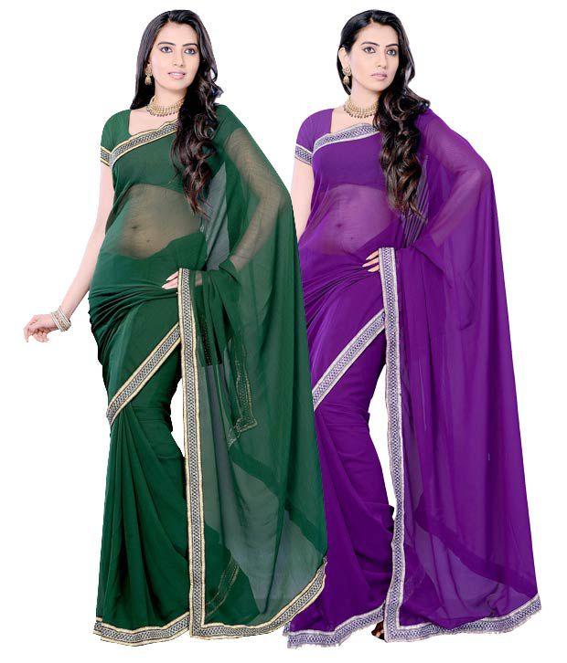 Diva Fashion Winsome Printed Sarees Combo of 2