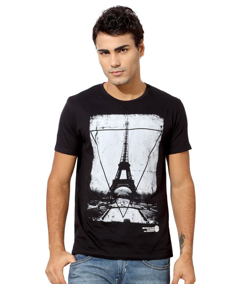 01cc02057c Van Heusen Black Graphic Printed Casual T-Shirt - Buy Van Heusen Black  Graphic Printed Casual T-Shirt Online at Low Price - Snapdeal.com