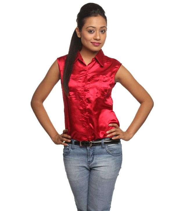 765eb1c3c51676 Buy Athena Red Satin Shirts Online at Best Prices in India - Snapdeal