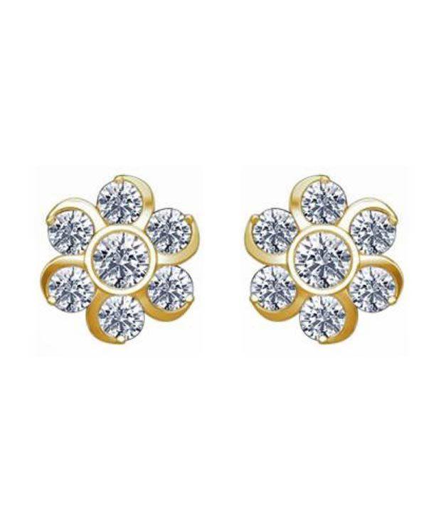 0ec5946ce Avsar Gold & Diamond Traditional Nakshatra Earrings with Free 3 gm Silver  Coin: Buy Avsar Gold & Diamond Traditional Nakshatra Earrings with Free 3  gm ...