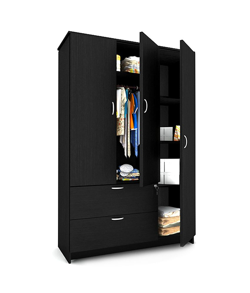 housefull marc 3 door wardrobe with drawers buy online at best rh snapdeal com