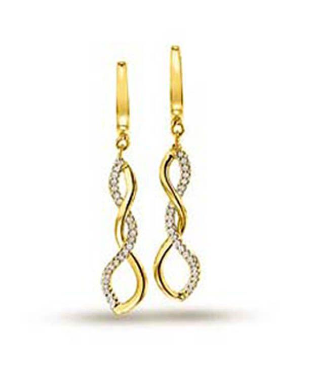 a492fc61dbdd Surat Diamond Twinkle Star Diamond Earrings ER-22  Buy Surat Diamond  Twinkle Star Diamond Earrings ER-22 Online in India on Snapdeal