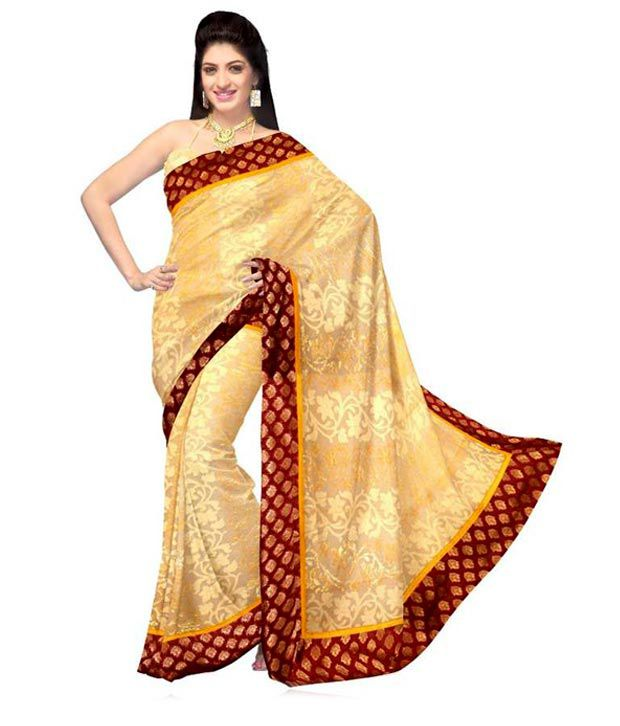 4747f8688 Unnati Silks Traditional Cream Pure Khadi Jute Silk Saree - Buy Unnati Silks  Traditional Cream Pure Khadi Jute Silk Saree Online at Low Price -  Snapdeal.com
