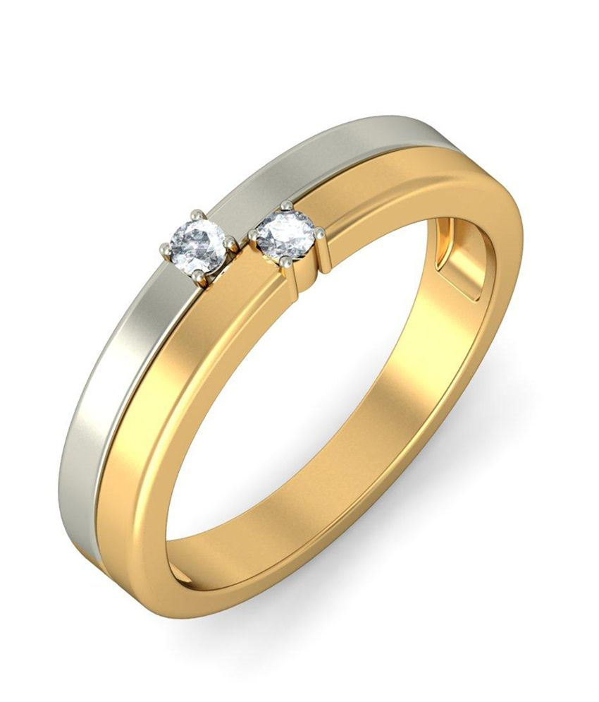 Duos Ring for Her Hallmark 18Kt Gold Ring with Certified SI/IJ Diamonds