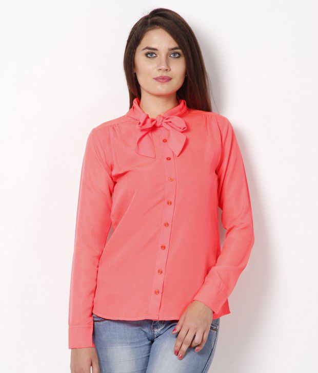 Lavennder Pink Poly Crepe Shirts