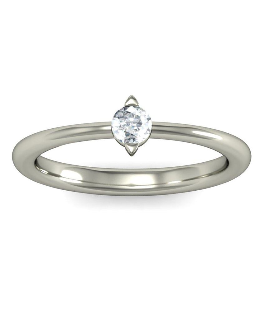 Fish Eye Ring Hallmark 14Kt Gold Ring with Certified SI/IJ Diamonds