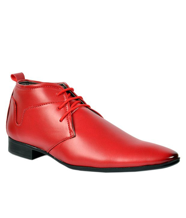 Footlodge Red Formal Shoes