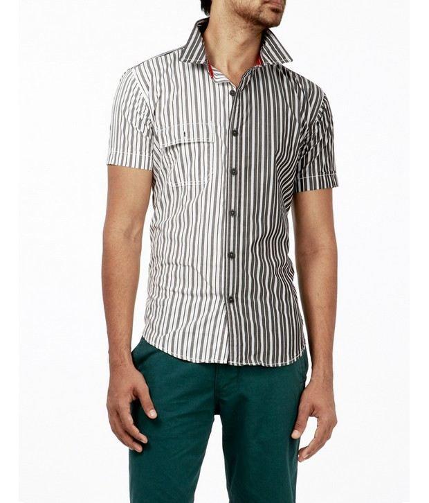 Probase White Striped Shirt