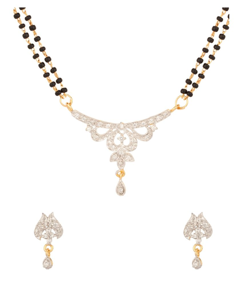 Voylla Queen of hearts Gold Plated Mangalsutra Set