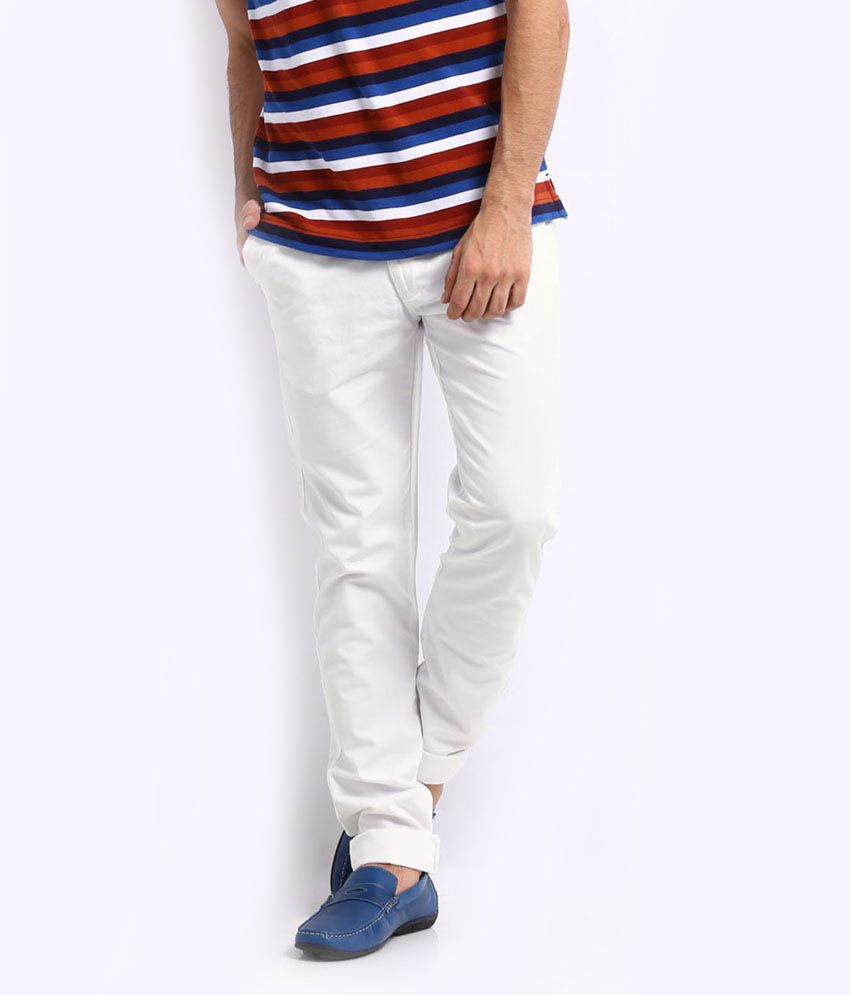Kenneth Cole - White - Casuals Chinos