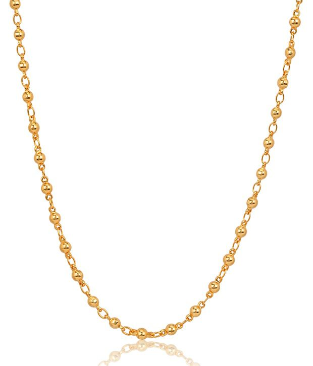 Jewels Galaxy Delightful 18 Kt Gold Plated Chain