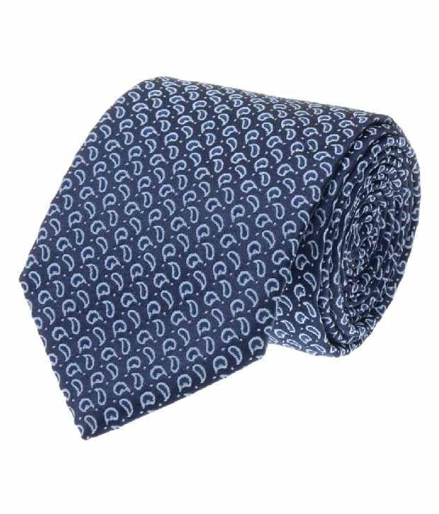 Tossido Blue Micro Fiber Formal Men Tie