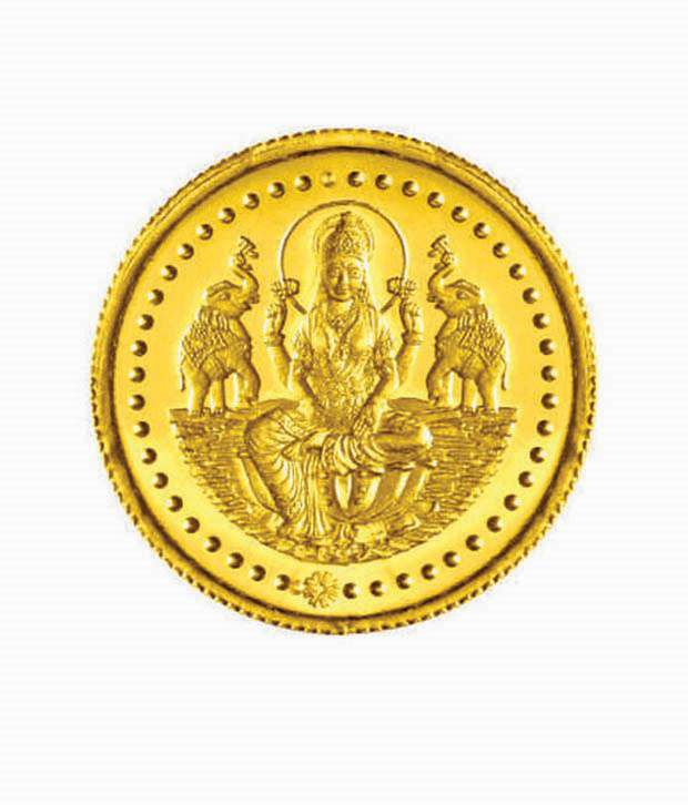 10 gms 24 kt purity 995 fineness lakshmi gold coin by