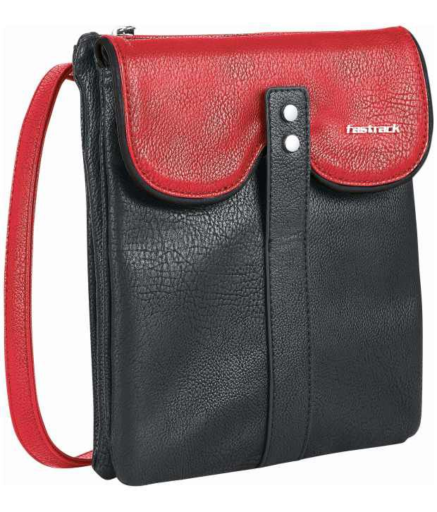 Fastrack A0426PRD01 Red Cross Body Sling Bag