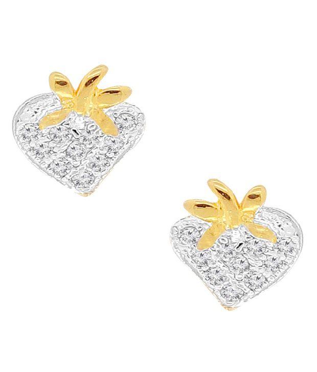 Spargz Elegant Heart Shape Designer Earring Tops AIER 288