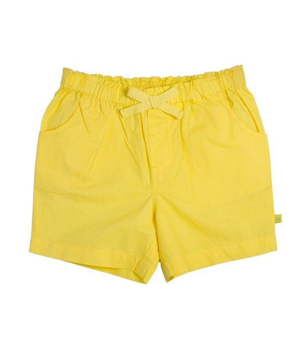 FS Mini Klub Yellow Woven Shorts For Kids