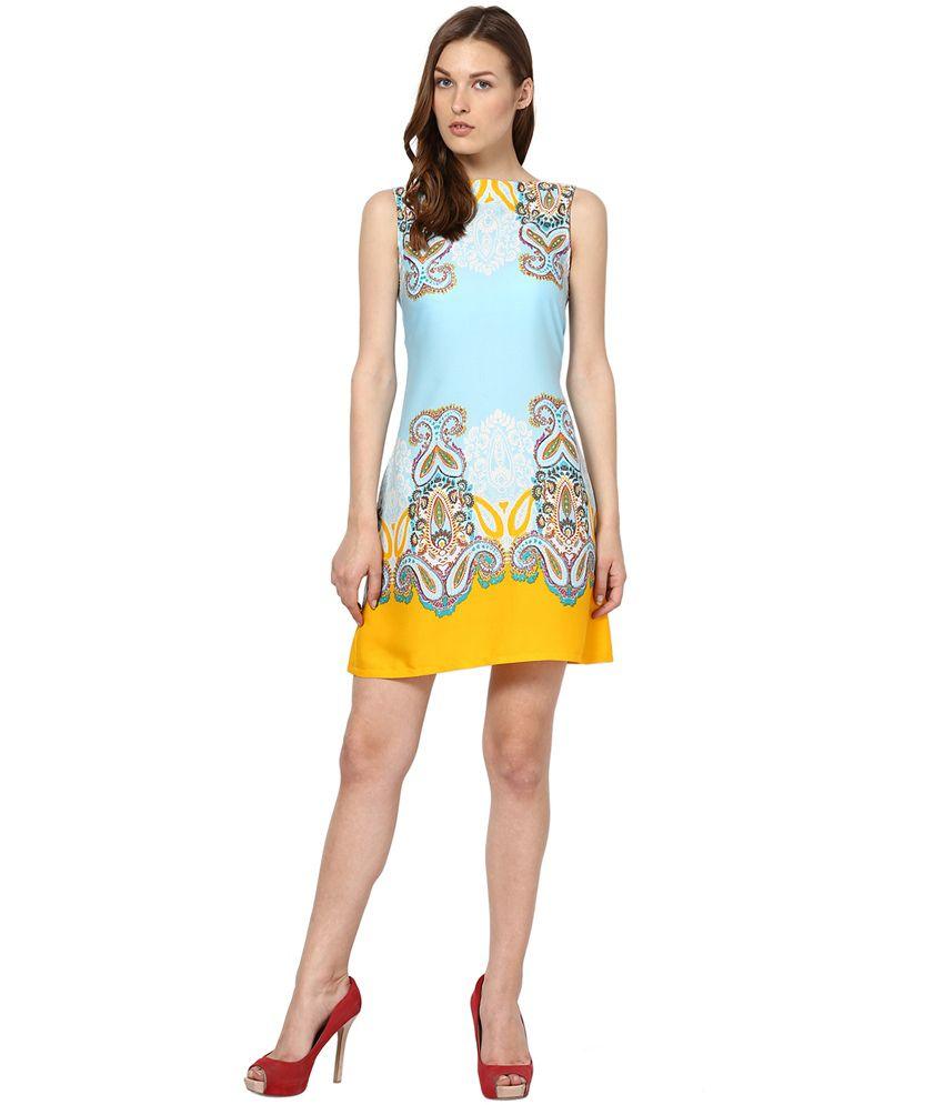 07bd8e22cea8 Abiti Bella Blue Polyester A Line Dress - Buy Abiti Bella Blue ...