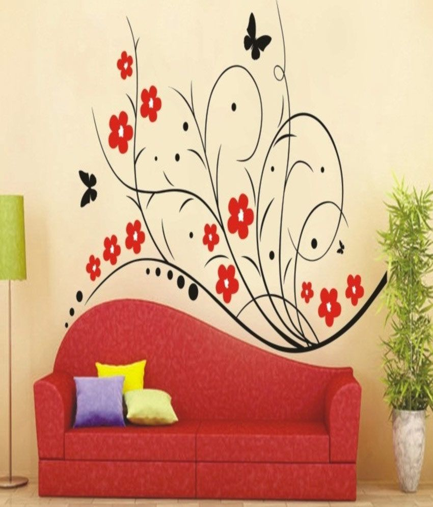decals arts classic red wall sticker best price in india large home decor large applique stickers iron on patches