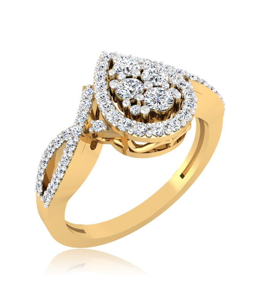 Forever Carat Real Diamond Ring in 100% Certified 14kt Gold 0242