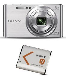 Sony Cybershot W830 (Silver) Combo with Sony NP-BN1 Rechargeable Battery