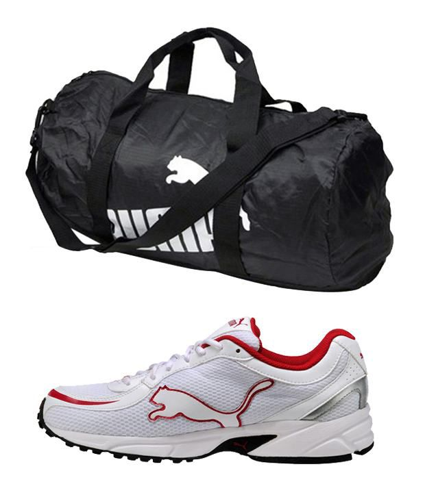 puma gym bag white