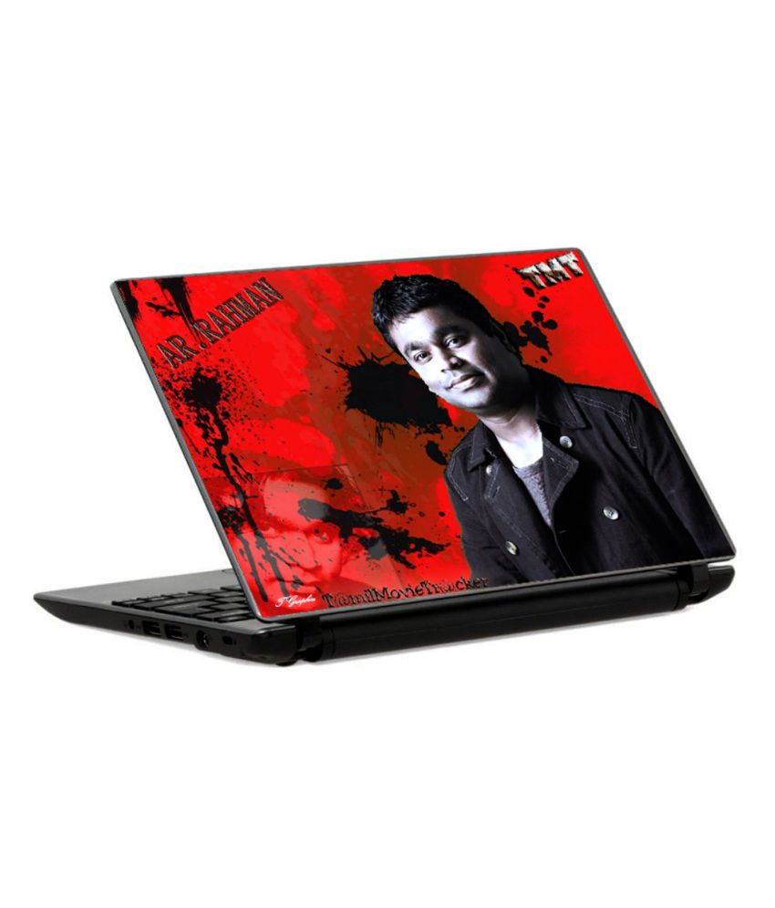 Tgraphics Ar Rahman Red Bg Printed Laptop Skin