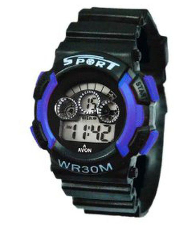 Fluid fs201 sy02 black silicon digital watch price in india buy fluid fs201 sy02 black silicon for Watches for kids