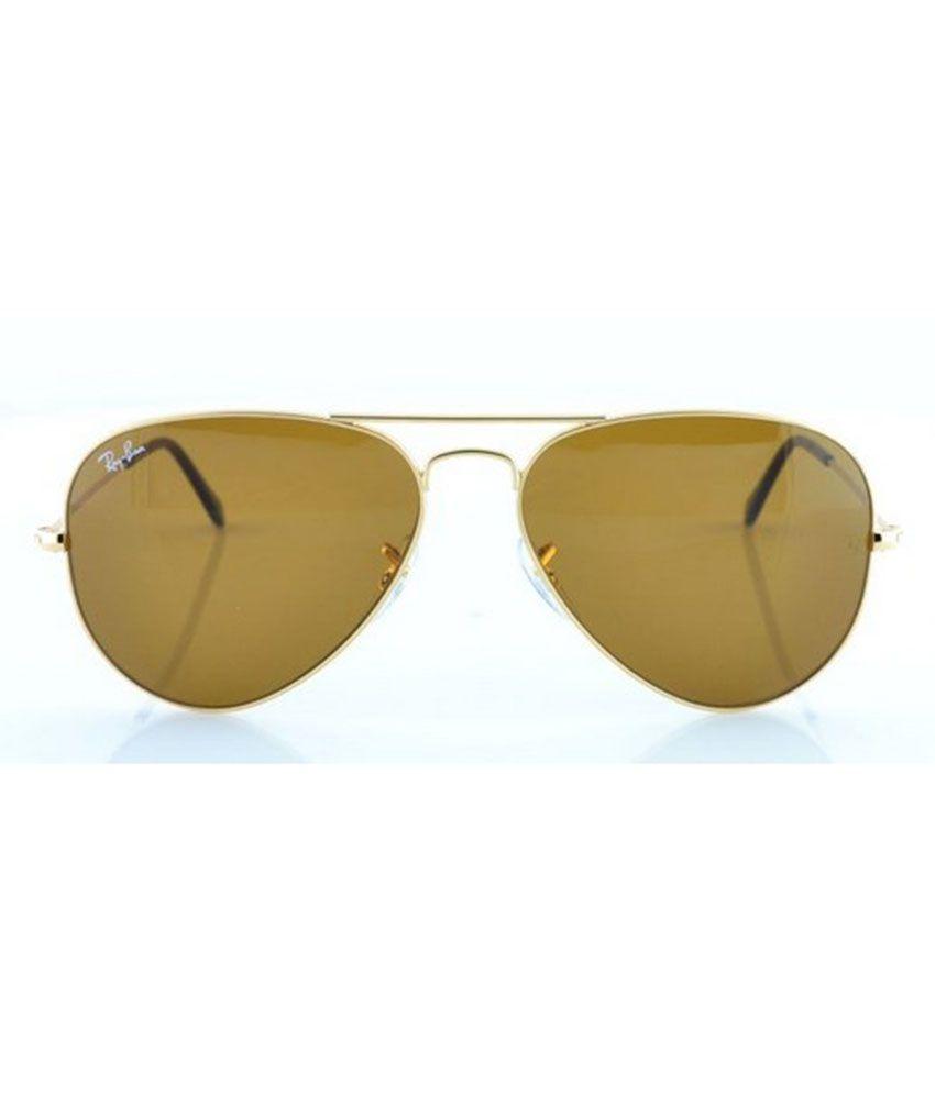 Ray ban sunglasses with price -  Ray Ban Brown Aviator Sunglasses Rb3025 001 33 58 14