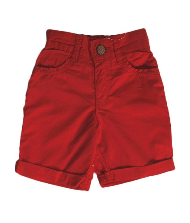 Vitamins Red Color Solid Capri For Kids