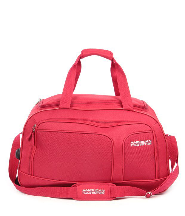 american tourister unisex blue trolley duffle bag