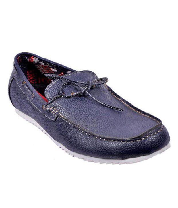 Wave Walk Blue Loafers