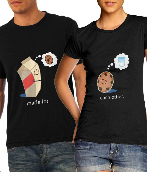 Made For Each Other: Buy Made For Each Other Cookie And Milk Couple T Shirts