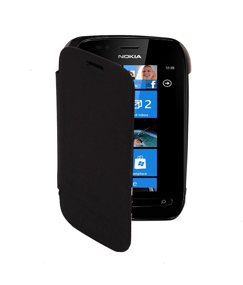 timeless design d30fa 8358b KolorEdge Flipcover for Nokia Lumia 710 - Black