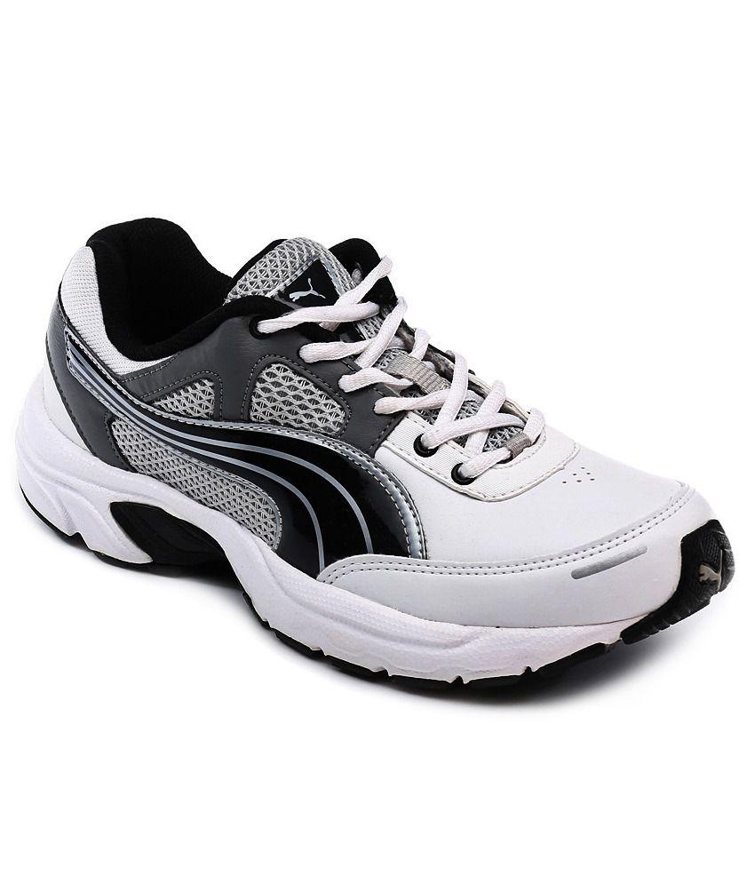 Puma FALCON XT Ind White-Black Running Shoes
