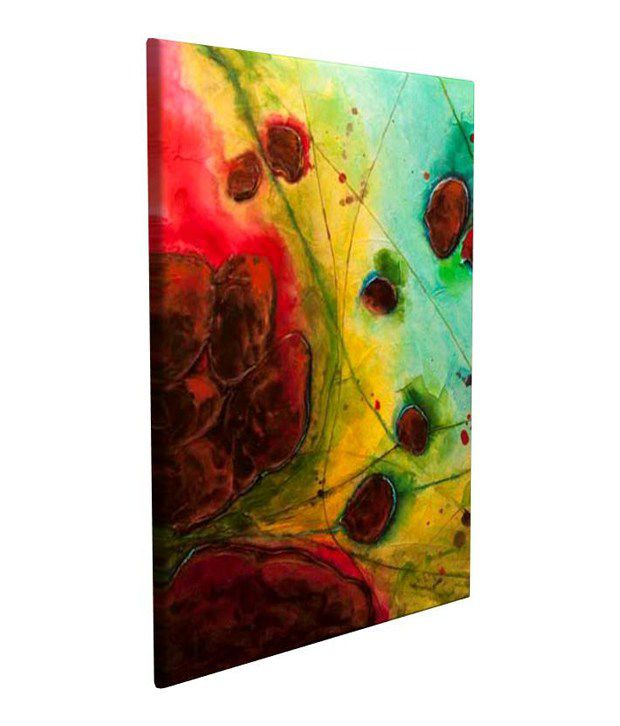 Artjini Abstract Series No. 13 I Multicolour Canvas, Frame - Wood Paintings-Abstract
