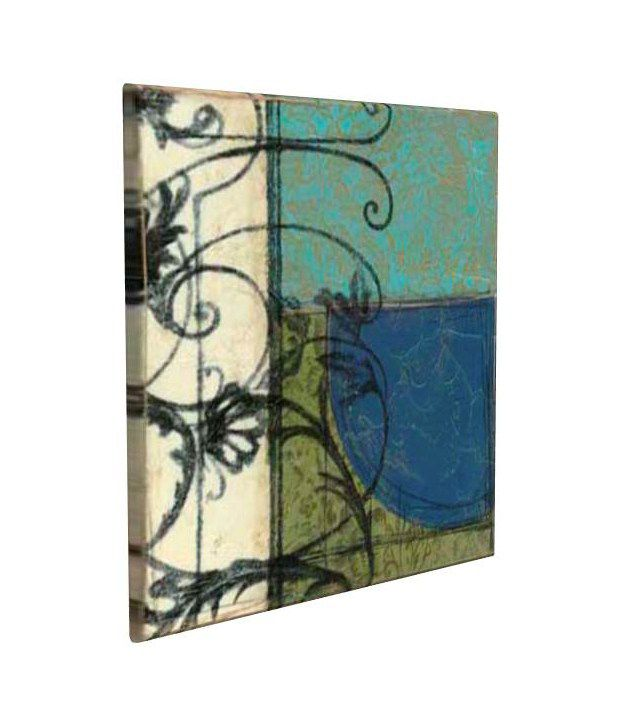 Artjini Gated Geometry II Multicolour Canvas, Frame - Wood Paintings-Abstract