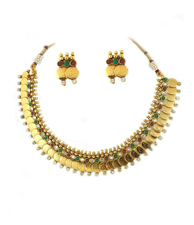 Golden Collections Akshaya Tritiya Necklace Set