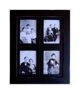 Wens Trendy 4-In-1 Black MDF Photo Frames