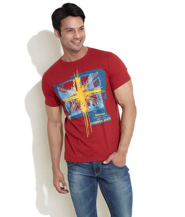 Indigo Nation Red Cotton  T-Shirt