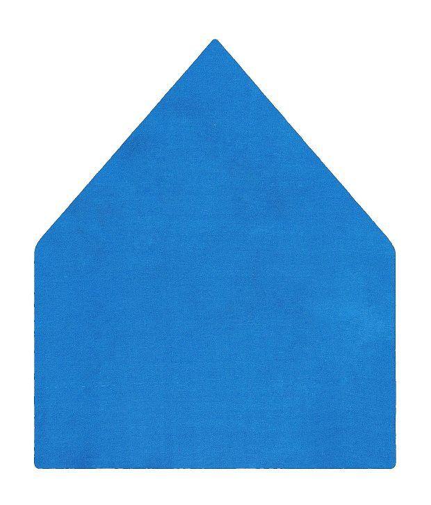 Tiekart Plain Blue Pocket Square