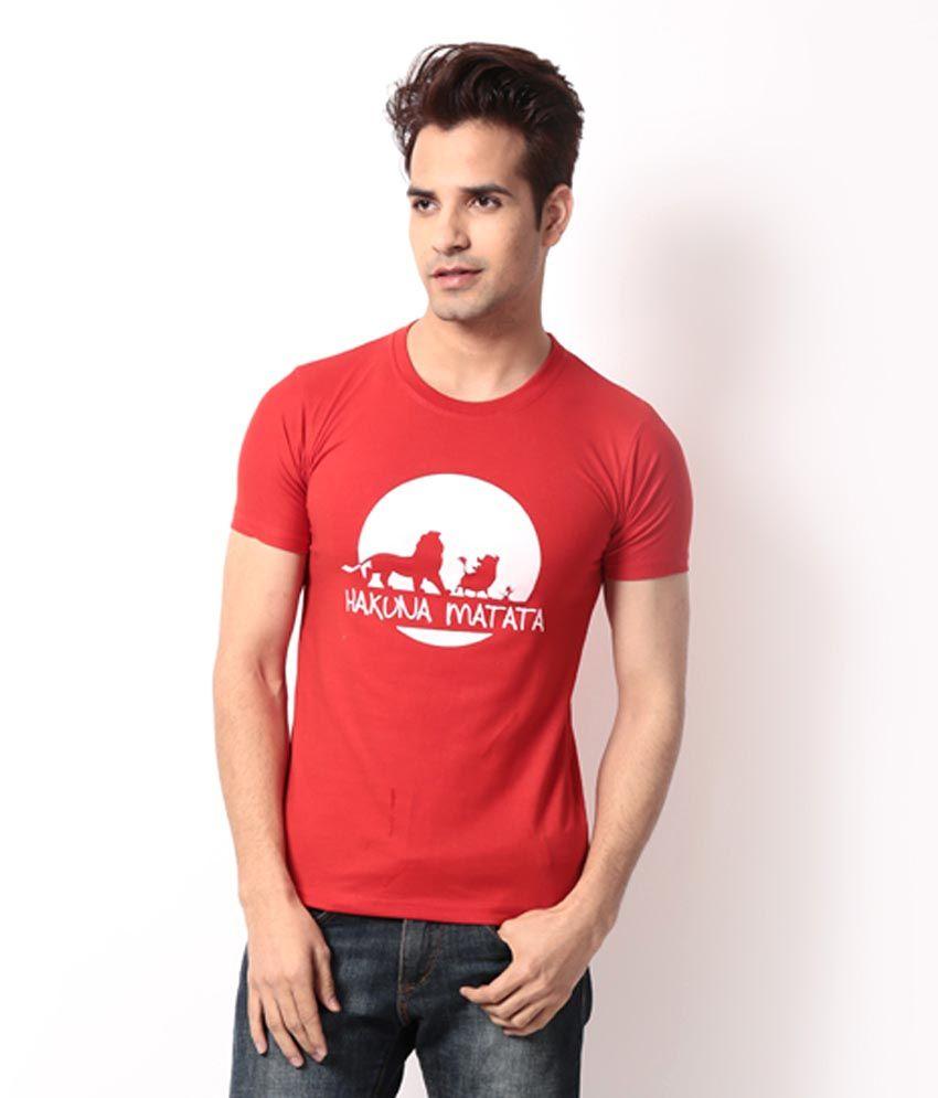 Bendiesel Red Half Cotton Round T-Shirt