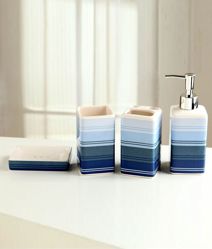 Buy Nilkamal Pvc Bath Sets With Stripes Online At Low Price In