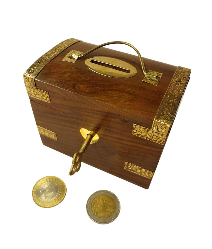 Pindia beautiful vintage traditional chest shaped large for Awesome money box