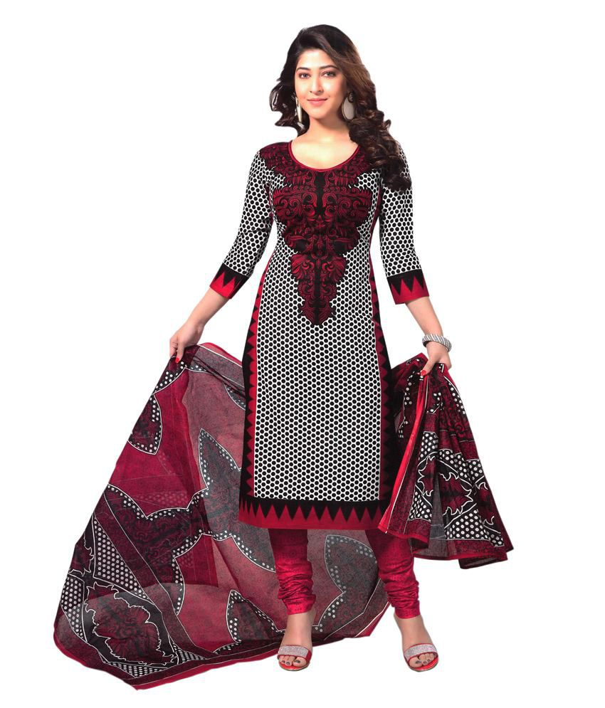 c56e7a7d5f Reya Brown and Grey Crepe Dress Material - Buy Reya Brown and Grey Crepe Dress  Material Online at Best Prices in India on Snapdeal