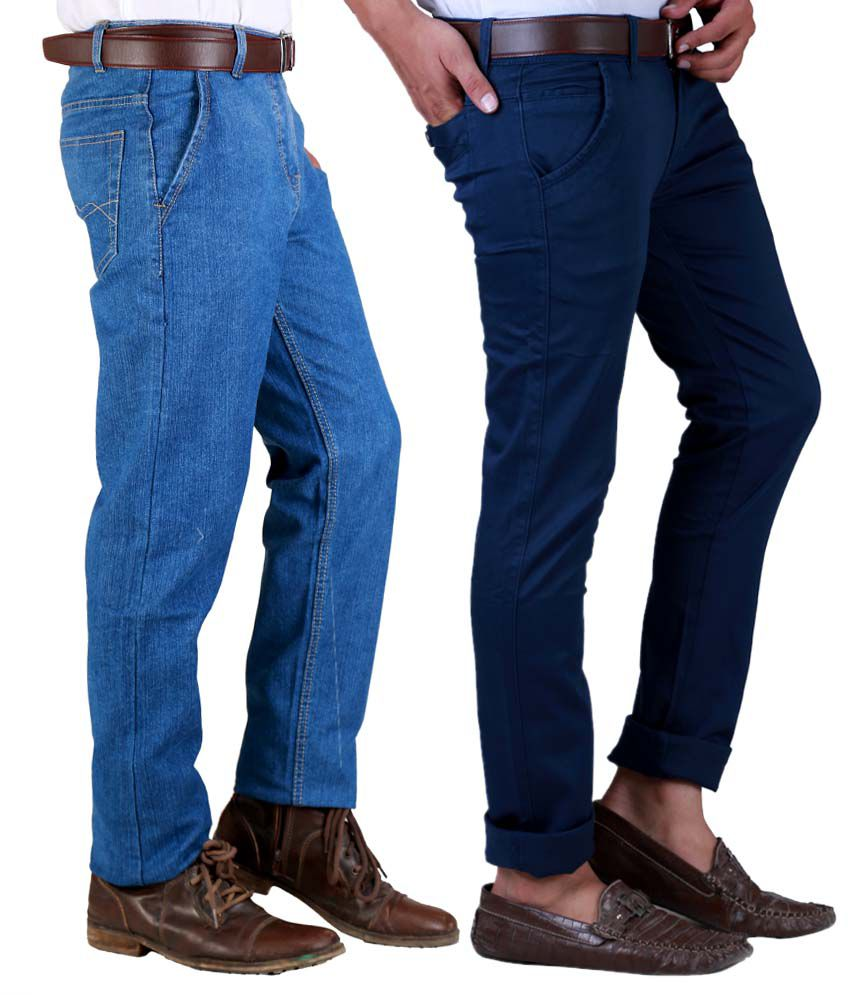 Sam & Jazz Pack Of 2 HI-VOLTAGE   BLUE JEANS And Chinos