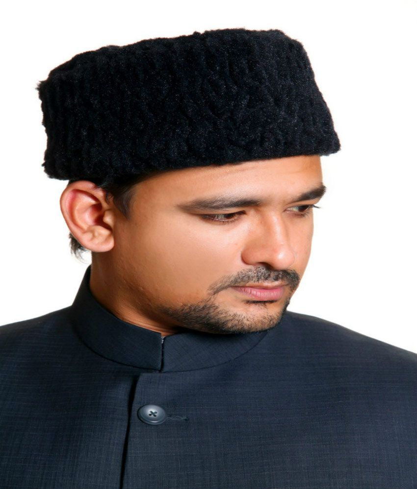 Shopiest Black Woollen Woolen Cap Men - Buy Online   Rs.  c9fcef59367